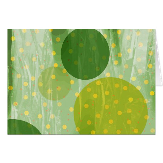 Abstract Dots Design Card