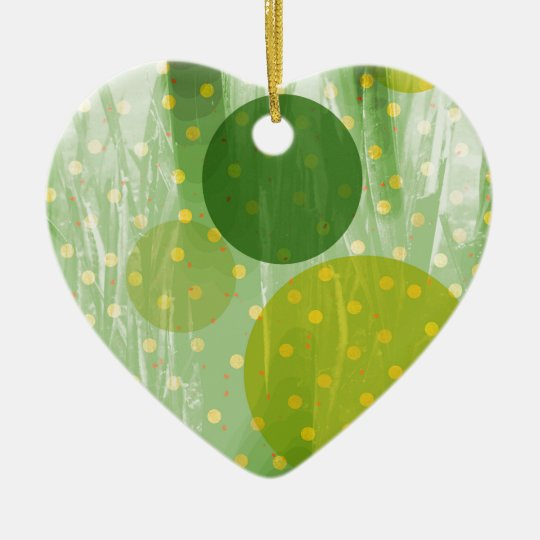 Abstract Dots Design Ceramic Heart Decoration