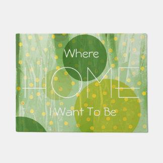 Abstract Dots Design Doormat