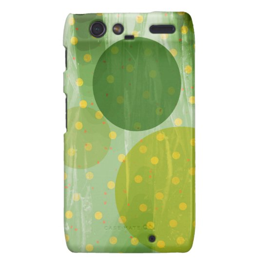 Abstract Dots Design Droid RAZR Cover
