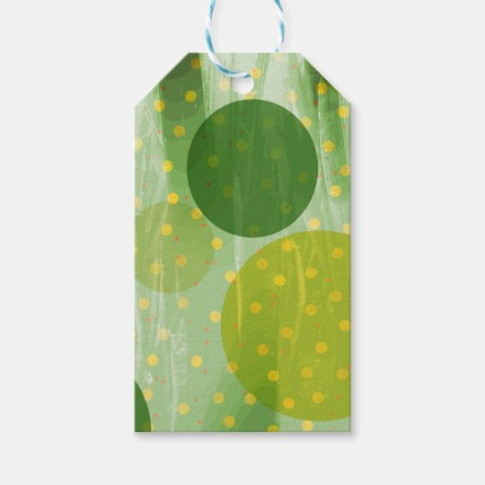 Abstract Dots Design Gift Tags