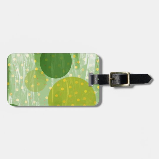 Abstract Dots Design Luggage Tag