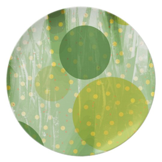 Abstract Dots Design Plates