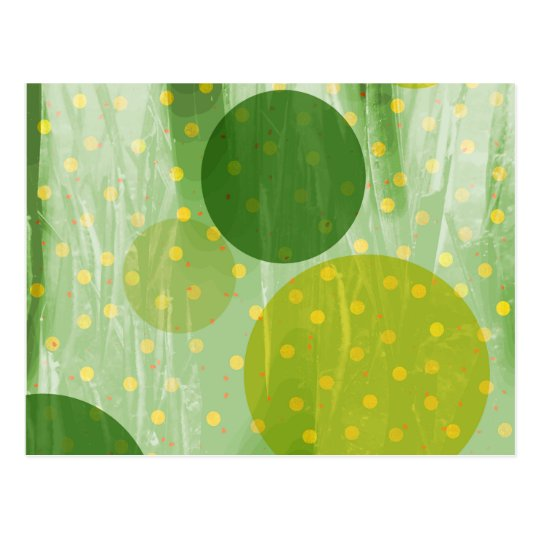 Abstract Dots Design Postcard