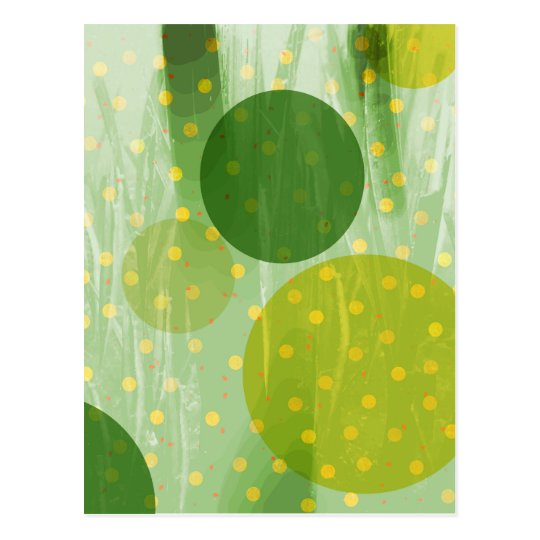 Abstract Dots Design Postcard
