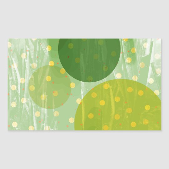 Abstract Dots Design Rectangular Sticker