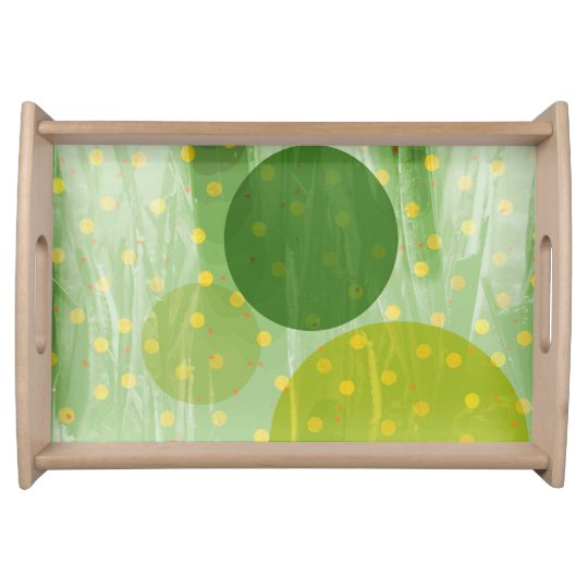 Abstract Dots Design Serving Tray