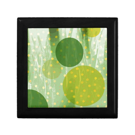 Abstract Dots Design Small Square Gift Box
