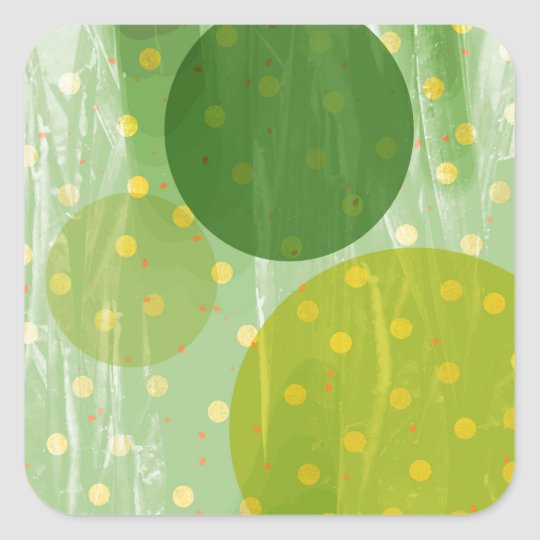 Abstract Dots Design Square Sticker