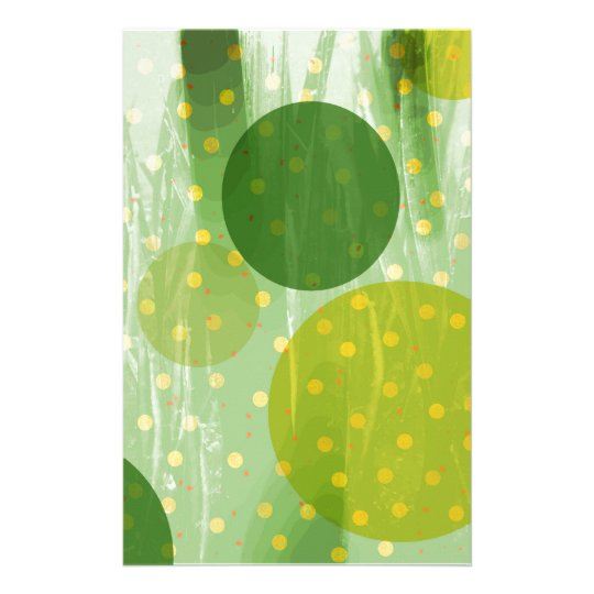 Abstract Dots Design Stationery
