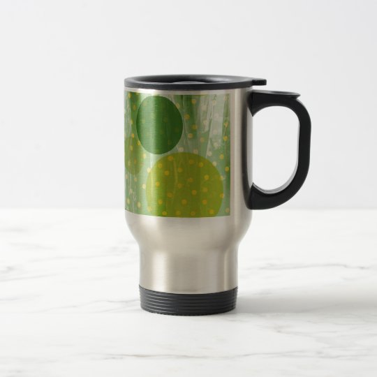 Abstract Dots Design Travel Mug