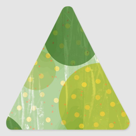 Abstract Dots Design Triangle Sticker
