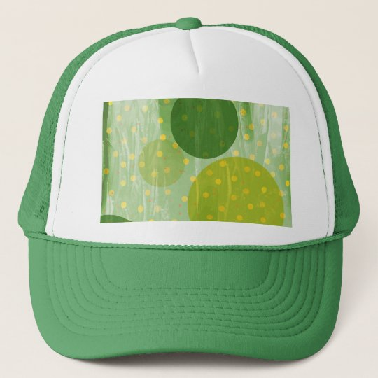 Abstract Dots Design Trucker Hat