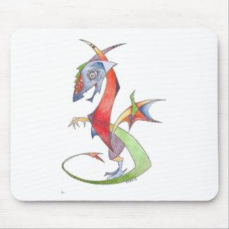 abstract dragon mouse pad