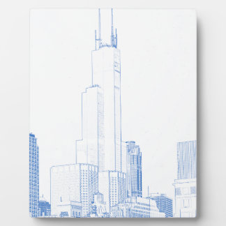 Abstract Drawing of Chicago No1 Plaque