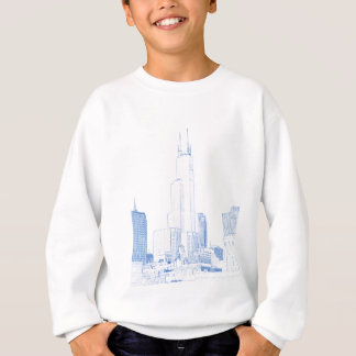 Abstract Drawing of Chicago No1 Sweatshirt