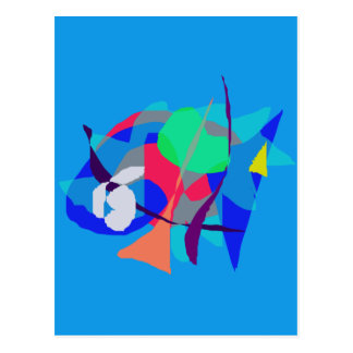 Abstract Dream Light Blue Postcard