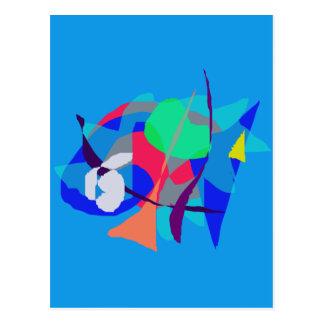 Abstract Dream Light Blue Postcard