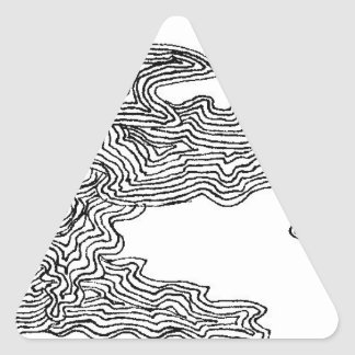Abstract Dreams Triangle Sticker