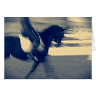 Abstract Dressage Greeting Card