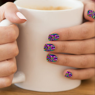 Abstract Dripping Scrible Swirl Nails Stickers