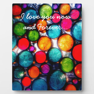 Abstract Droplets Photo Plaque