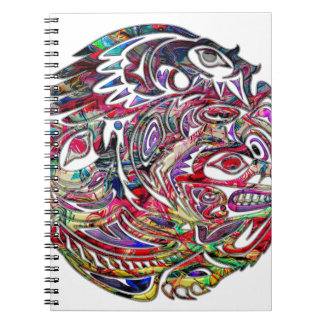 Abstract Eagle Bass and Bear Tribal Art Notebooks