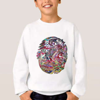 Abstract Eagle Bass and Bear Tribal Art Sweatshirt