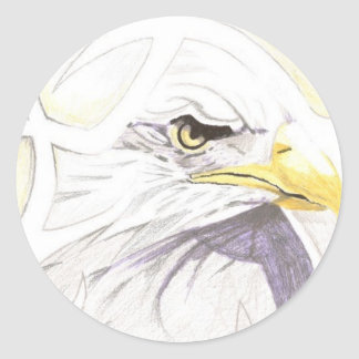 ABSTRACT EAGLE CLASSIC ROUND STICKER