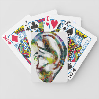 Abstract Ear Watercolour Print Bicycle Playing Cards