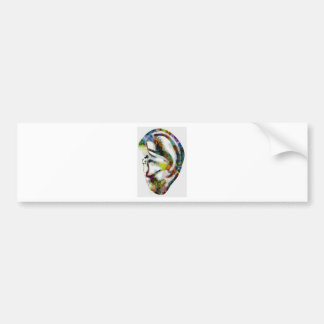 Abstract Ear Watercolour Print Bumper Sticker