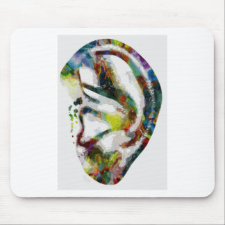 Abstract Ear Watercolour Print Mouse Pad