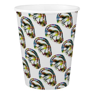 Abstract Ear Watercolour Print Paper Cup