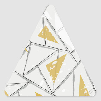Abstract: Early Fall Triangle Sticker