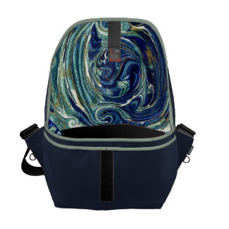 Abstract Earth Interior Rickshaw Commuter Bag