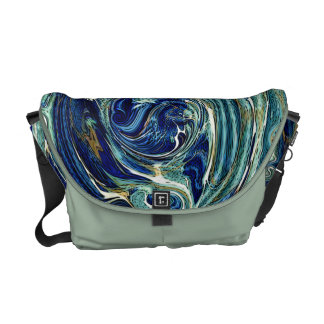 Abstract earth Swirl Rickshaw Commuter Bag