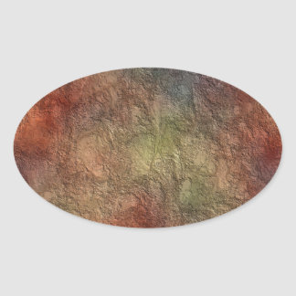 Abstract Earth Tone Colors Oval Stickers