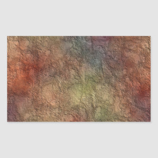 Abstract Earth Tone Colors Rectangle Stickers