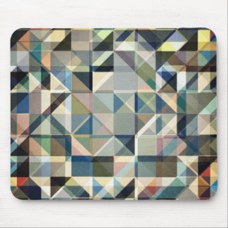 Abstract Earth Tone Grid Mouse Pad
