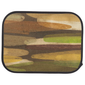 Abstract Earth Tone Landscape Floor Mat