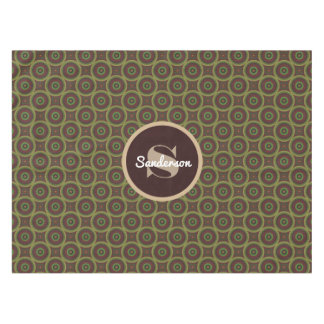 Abstract Earth Tone w/Personalization Tablecloth