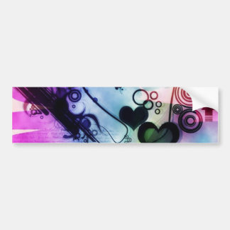 Abstract Ecig Bumper Sticker