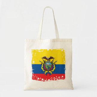 Abstract Ecuador Flag, Republic of Ecuador Bag