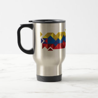 Abstract Ecuador Flag, Republic of Ecuador PolyMug Travel Mug
