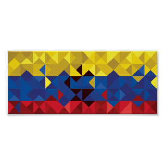 Abstract Ecuador Flag, Republic of Ecuador Poster