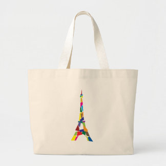 Abstract Eiffel Tower, France, Paris Jumbo Tote Bag