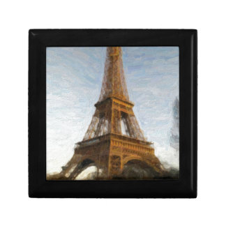 abstract eiffel tower gift box