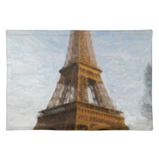 abstract eiffel tower placemat