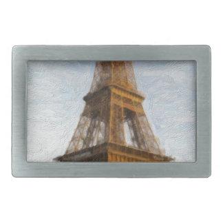 abstract eiffel tower rectangular belt buckle