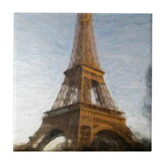 abstract eiffel tower small square tile